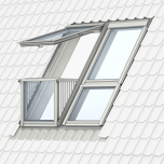 Velux GDL MK19 SK0L322 Cabrio Balcony Triple 2340 x 2520 with Slate Flashing