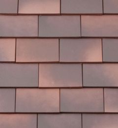 BMI Redland Rosemary Clay Classic Tile and a Half/Gable Tile 82 Medium Mixed Brindle (Smooth) 6509-82