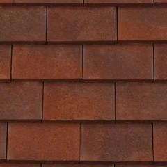 BMI Redland Rosemary Clay Classic Tile and a Half/Gable Tile 83 Heather Brindle (Sanded) 6509-83