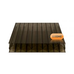 2 x Clear Amber AXIOME 35mm Bronze Multiwall Polycarbonate Sheets 840x4500mm and 1050x5000mm