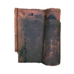Reclaimed Clay Terracotta Bambino Roof Tile 330x280mm (Dark Weathering)