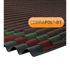 Clear Amber Corrapol-BT Corrugated Bitumen Roofing Sheet