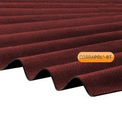 Clear Amber Corrapol-BT Corrugated Bitumen Roofing Sheet 930mm x 2000mm Red