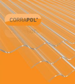 Clear Amber Corrapol Stormproof Corrugated 950x3000mm Roofing Sheet