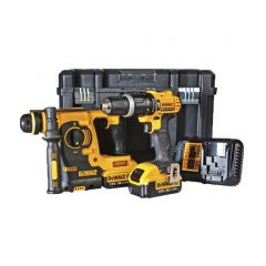 DeWalt Twin Pack 18v Twin Pack SDS and Compact Hammer Drill DCK206M2