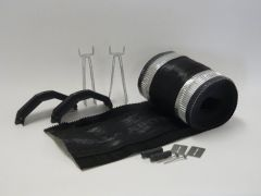 Ubbink Ventilated Dry Ridge Kit Black