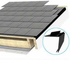 Permavent Easy Continuous Dry Verge for Slates 40mm x 40mm x 3m