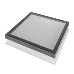Duratech 600x600 Fixed Flat Glass Rooflight With 160mm PVC Upstand