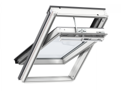 Velux GGL White Painted Pine Integra Solar Powered Centre Pivot Roof Window