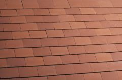 Marley Acme Single Camber Red Sandfaced (F) Tile and a Half/Gable Tile MAKE307BB