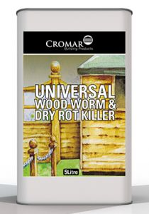 Cromar Universal Wood Worm and Dry Rot Killer 5L