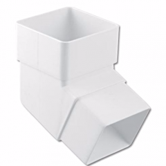 Floplast RBS2W White Square Downpipe 112⁰ Bend