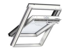 Velux GGL CK06 2060 550x1180 White Painted Centre Pivot Roof Window
