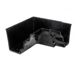 Hargreaves Foundry Cast Iron G46 Black 90⁰ External Gutter Angle