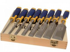Irwin Marples Set of 6 plus 2 Splitproof Bevel Edge MS500 Chisels