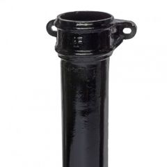 Hargreaves Foundry Cast Iron 65mm Black Downpipe (Eared)