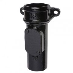 Hargreaves Foundry Cast Iron 65mm Black Access Pipe (Eared)