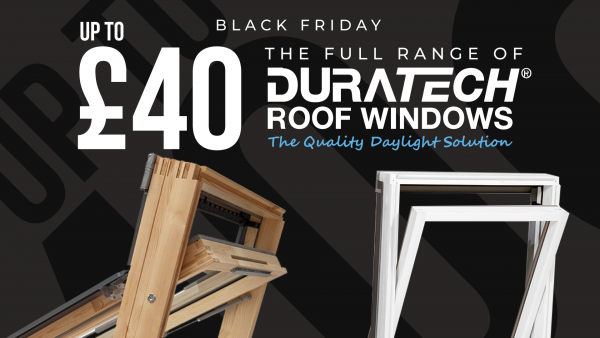 Black Friday   Up to £40 OFF Duratech Pitched Roof Windows