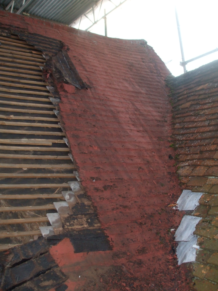 Completely failed roof