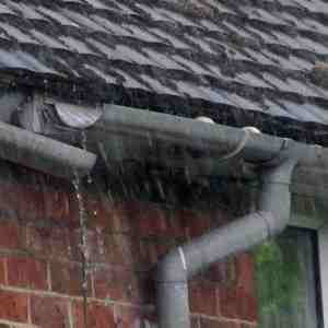 broken guttering can also cause water damage to house and roof