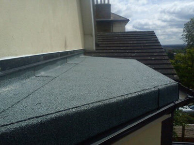 Torch-on felt applied to a dormer flat roof