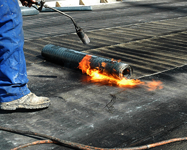 How to buy and use a gas torch for roofing.