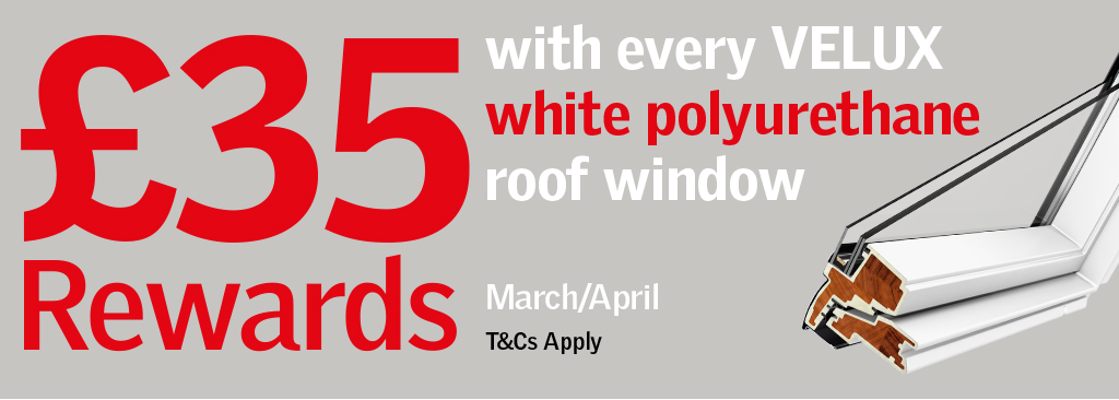 Earn £35 Rewards on Velux in March and April at JJ Roofing Supplies