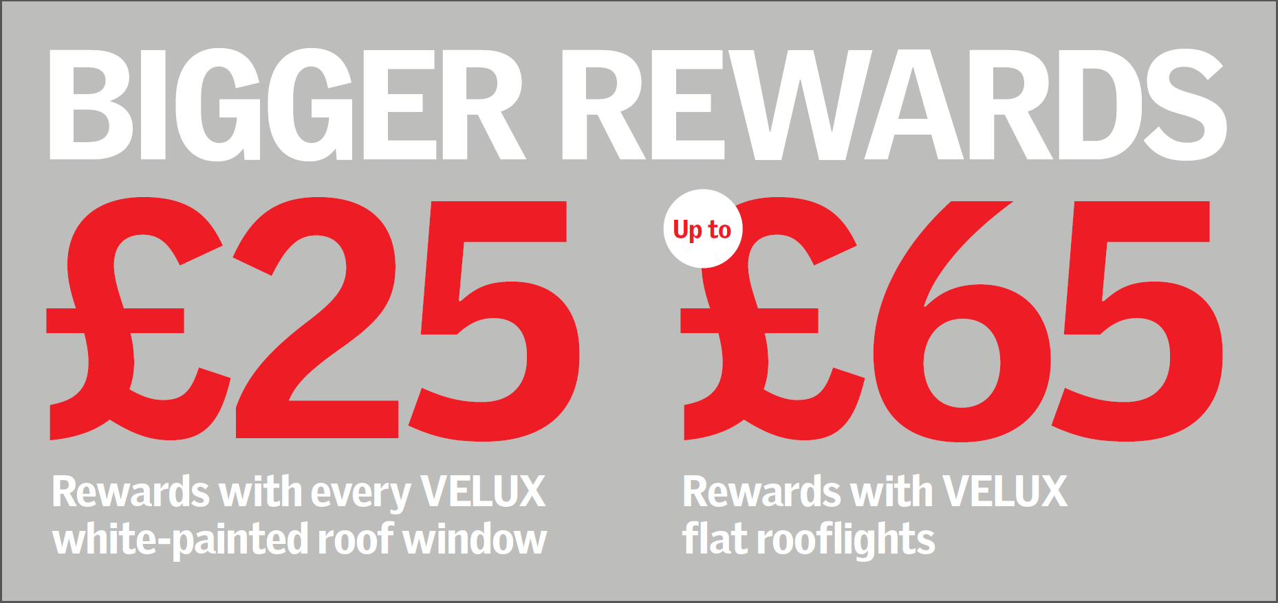 Earn Bigger Velux Rewards with JJ Roofing Supplies this September and October 2017 on Flat Roof Windows Click here for the full range