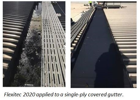 Coating Lined Gutters