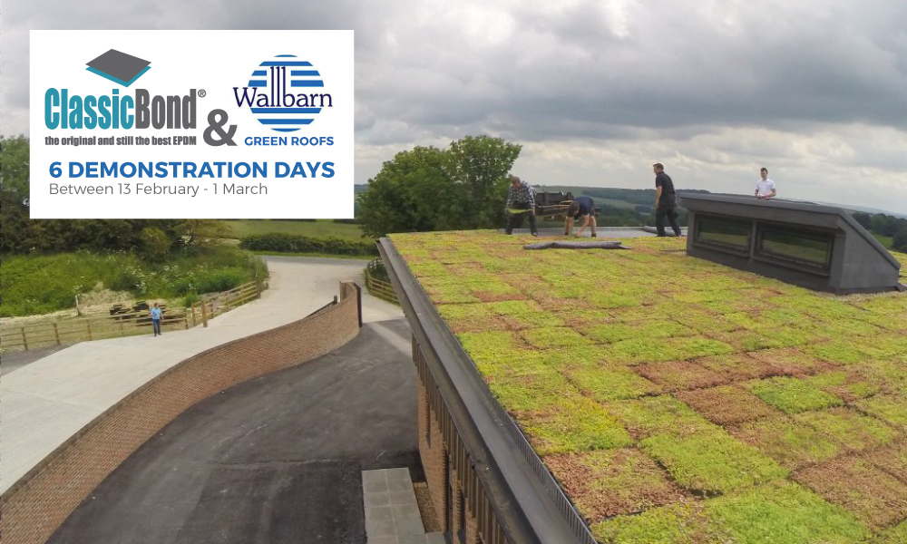 The Dynamic Duo! Classicbond EPDM and Wallbarn Green Roof Systems Demonstration Days