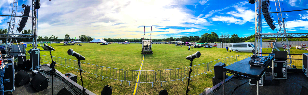 View from the stage. Set up and ready to kick off Summer Soulstice 2018
