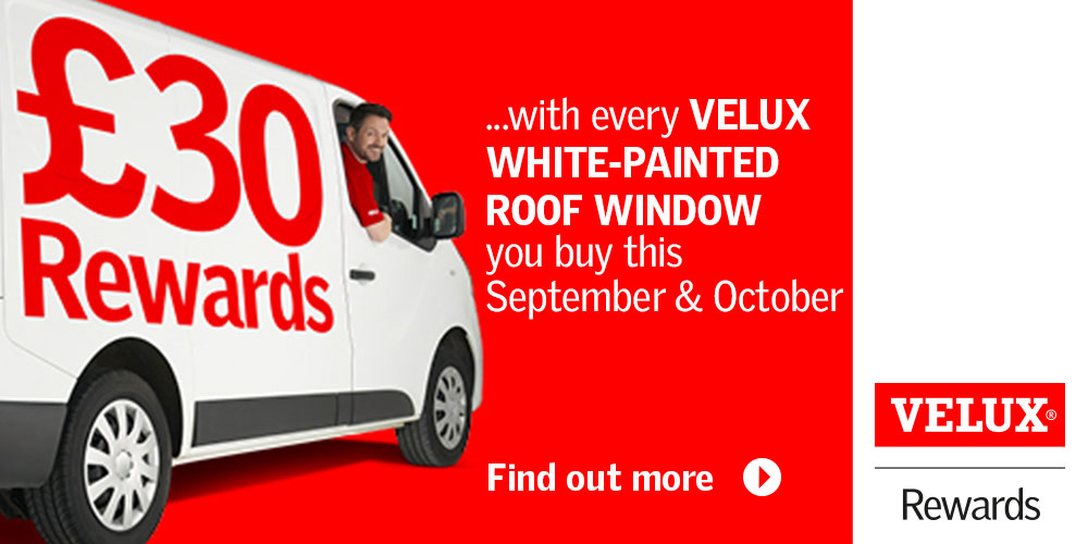 Earn £30 with EVERY Velux White Painted Window Purchase in September and October