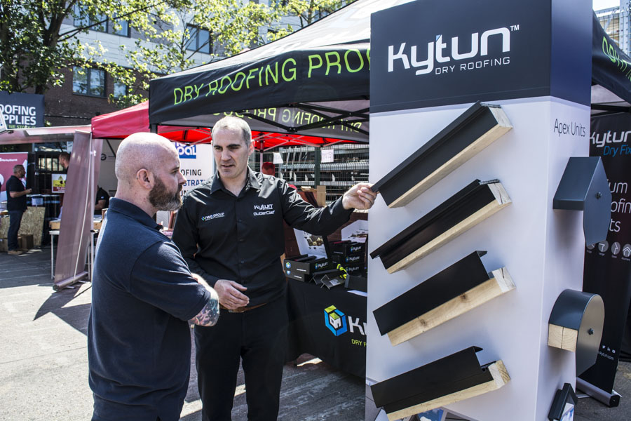 Kytun Dry Roofing Systems being demonstrated at Roofing Trade Show 2018
